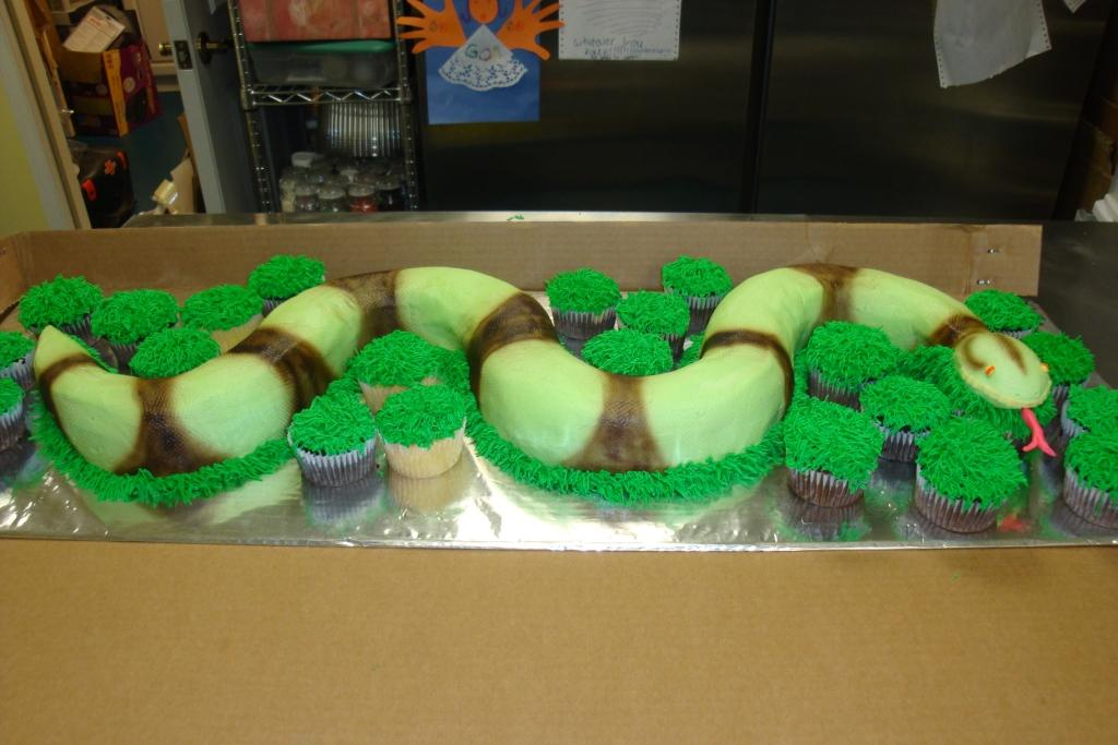 30 Serving 3d Snake 20 Cupcakes 140