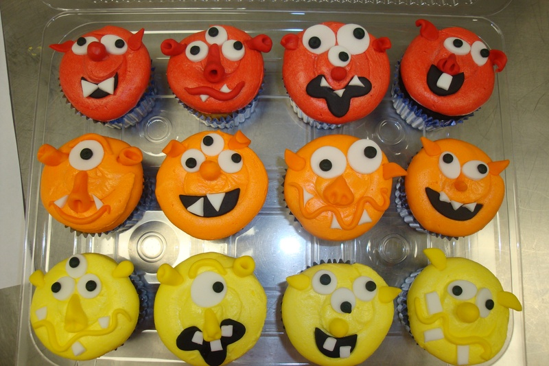 Monster face cupcakes $4 each