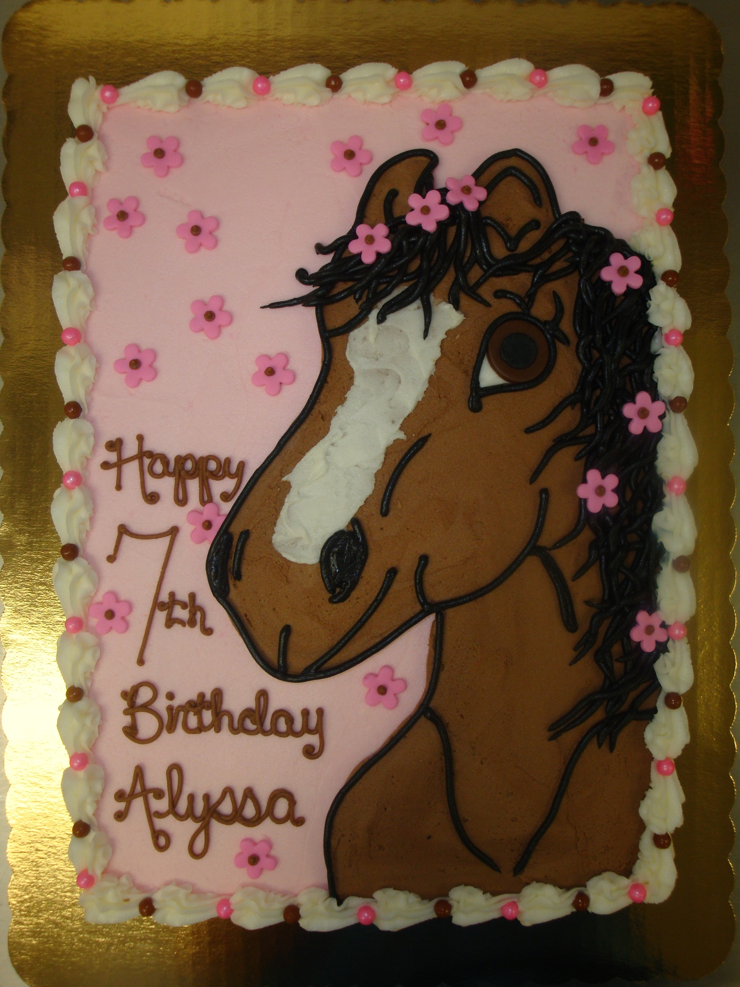 30 serving horse cake $90