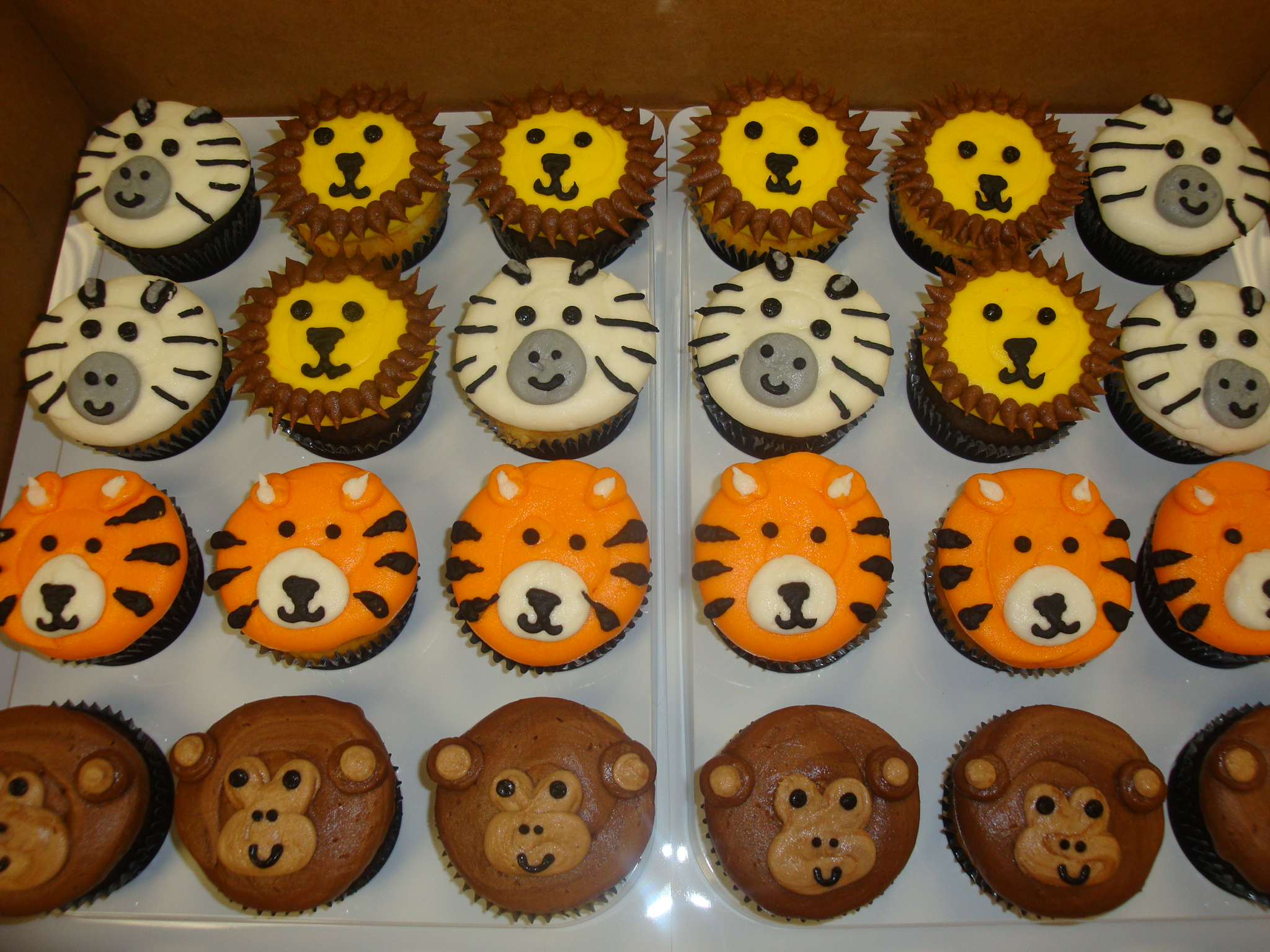 animal face cupcakes $3.50 each