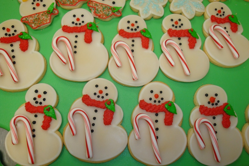 snowmen with candy canes $3.50each
