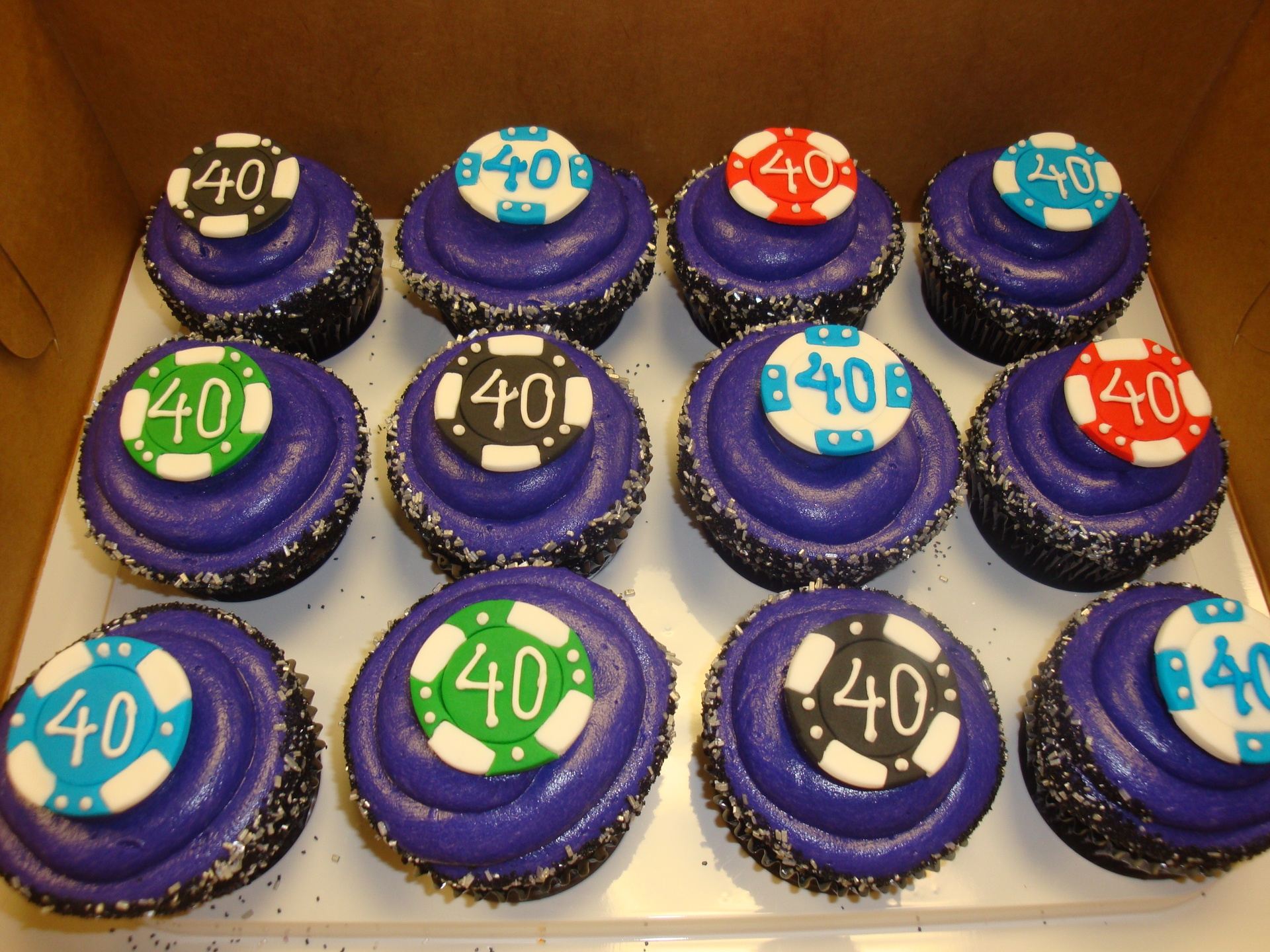fondant poker chip cupcakes $4 each