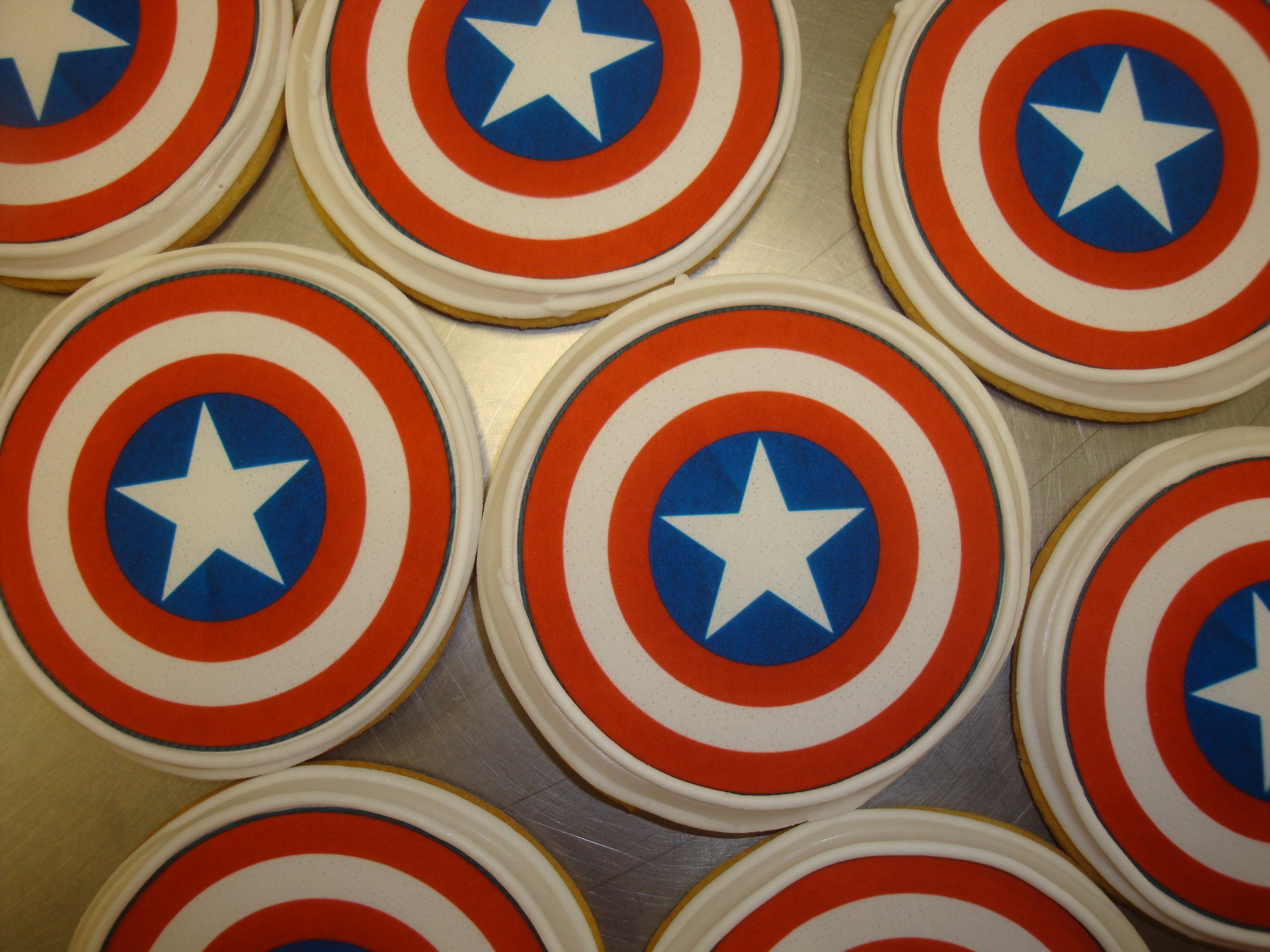 Captian America photo decal cookies $3 each