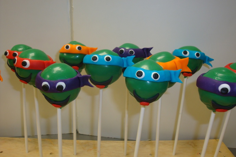 Pictures Of Ninja Turtle Cake Pops
