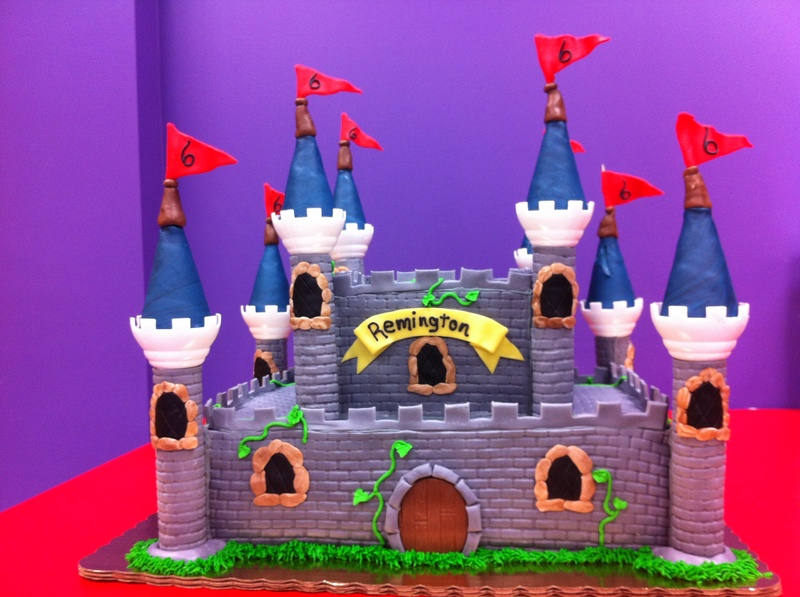 50 serving fondant midevil castle cake $400