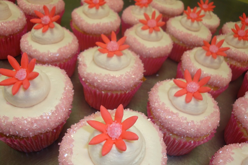 Sprinkle edged and fondant flowers $3 each