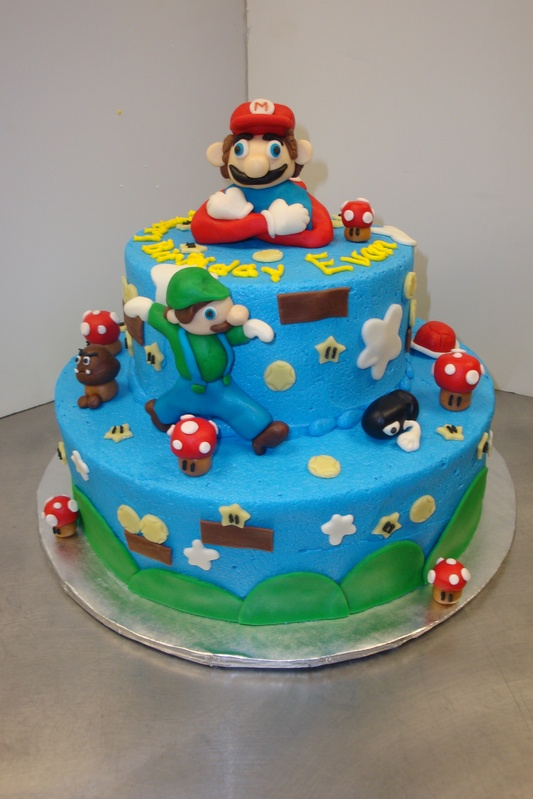 Mario themed cake  $6/serving