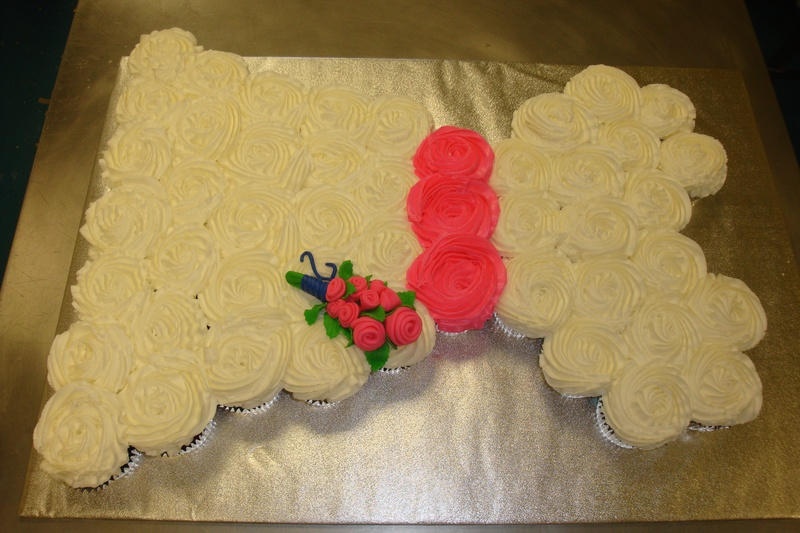 wedding dress cupcake cake $2.75 per cupcake