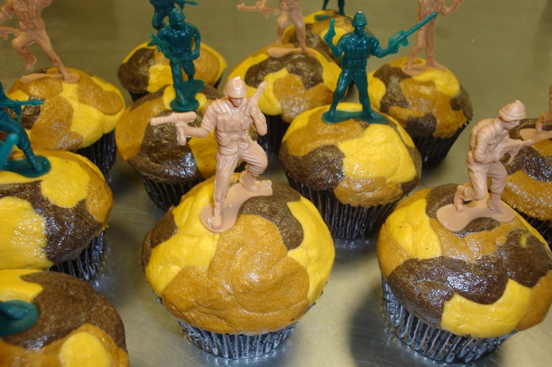 army men camo cupcakes $3.50 each