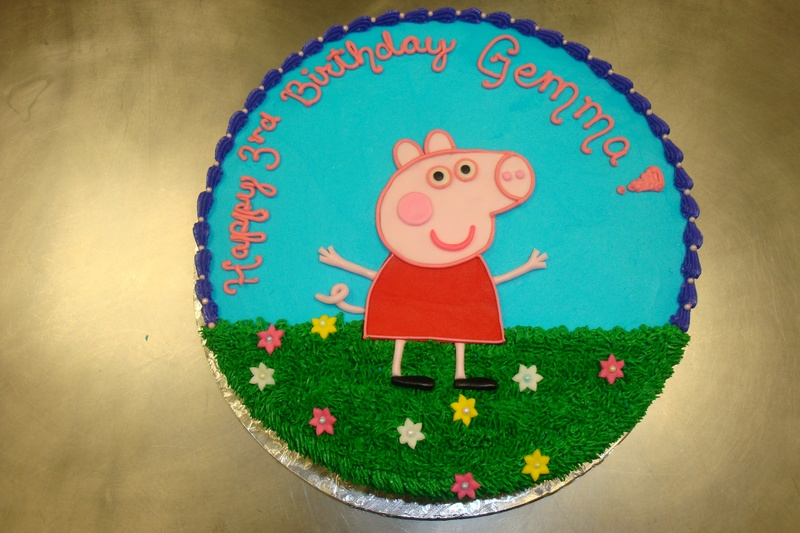 45 serving Peppa with flowers $135