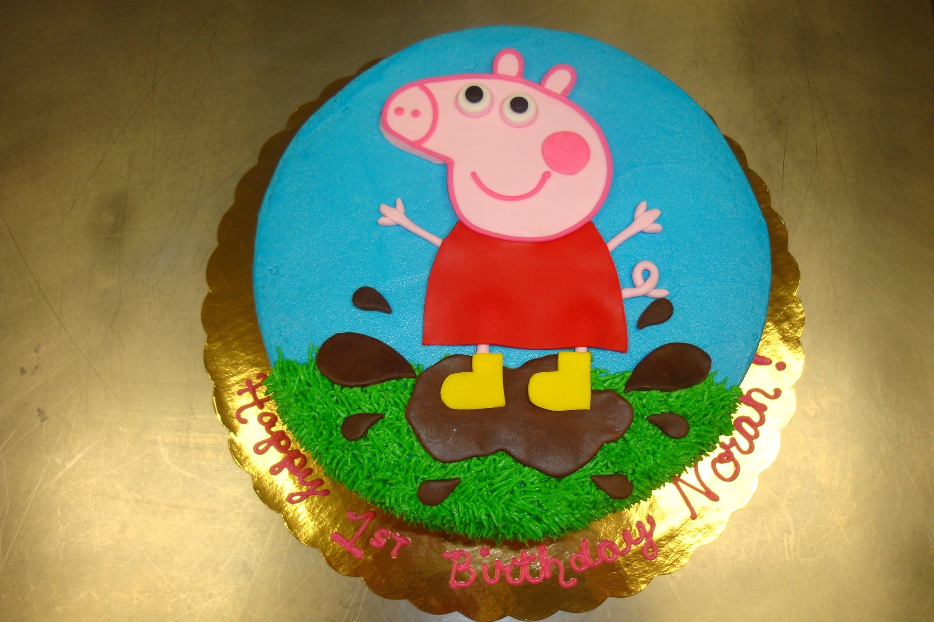 15 serving Peppa in mud $75 (no flowers)